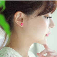 2017 New 7 Designs 1 Pair Cute Cat Unique Dog Stud Earrings for Women Colorful Animal Fashion Female Earring Ear Jewelry