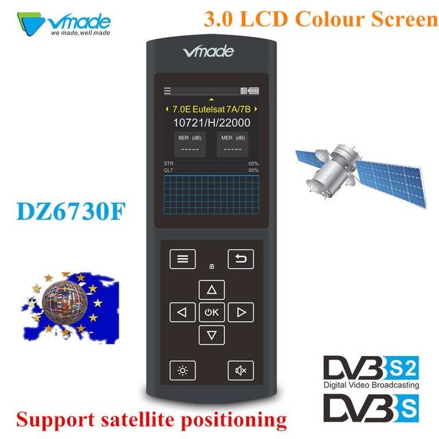 Vmade החדש מקורי DVB S/S2 שחור לווין Finder 3.0 אינץ LCD תצוגת תמיכה MPEG 2/4 1080 p DVB s2 Sat Finder עבור גרמניה
