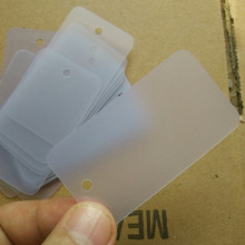 3.5 cm * 6.5 cm Frosted Blank jewelry PVC swing tags Plastic hang tag round edge 27s thickness