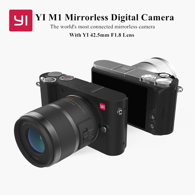 YI M1 Mirrorless Digital Camera With YI 12-40mm F3.5-5.6 Lens and YI 42.5mm F1.8 Lens Dual Lens