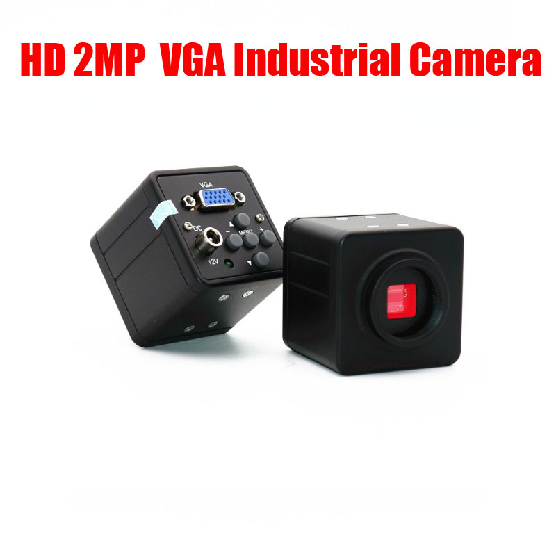 HD 2 million pixel VGA industrial camera CCD electronic video microscope camera with crosshair eyepiece