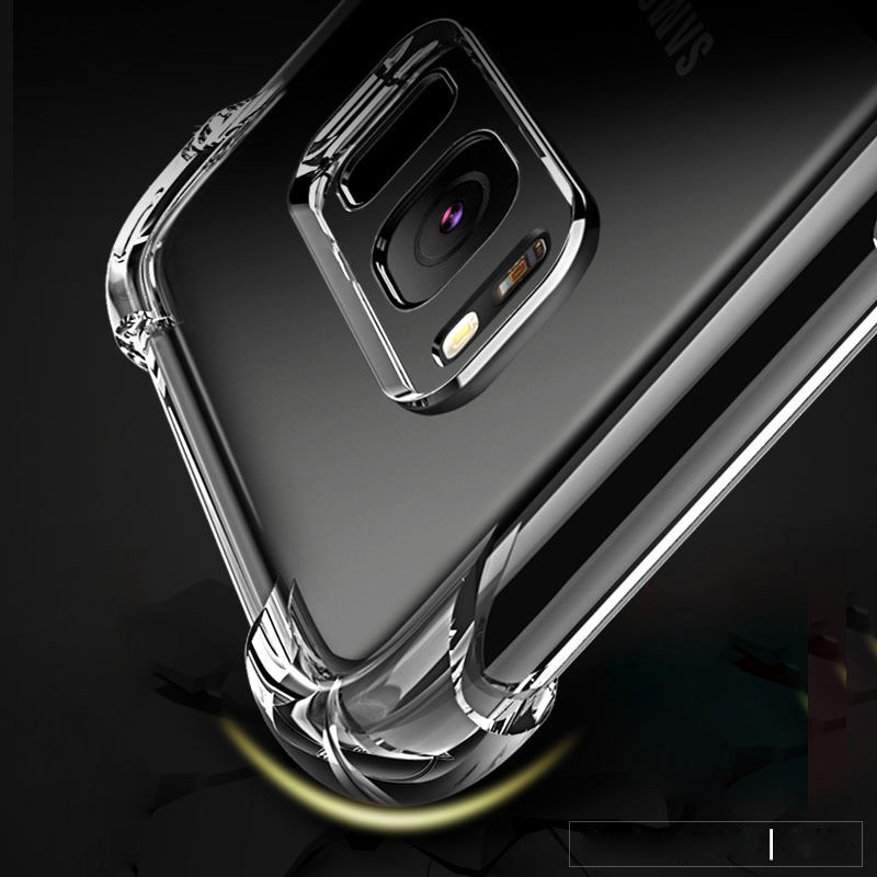 Shockproof Clear Soft Silicone Armor Case for Samsung Galaxy A50 A30 A70 M20 A6 A8 J6 J4 Plus A9 A7 2018 S9 S10 Plus back cover