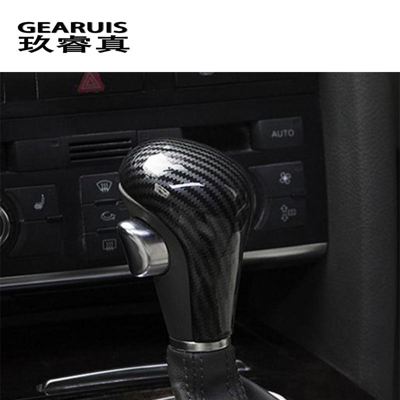 Автомобиль Стайлинг для Audi A4 B7 A5 A6 C6 Q5 Q7 Автоматическая скорость переключения передач глава углеродного волокна охватывает Наклейки интерь...