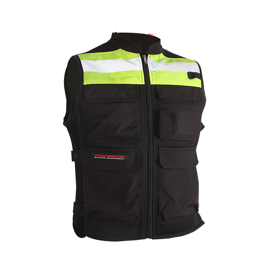 Black Hi-Vis Reflective Motorcycle Vest Motorbike Waistcoat Commuter Bike Jacket Safety Racing Uniform cycle clothing галстук мужской stilmark цвет темно синий 1278918 3 размер универсальный