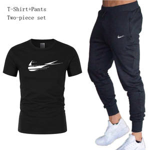 Men's Sportswear Clothes T Shirts Sport Suits + pants Running Jogging