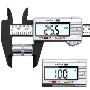 Image 2 - Pied à coulisse électronique numérique en Fiber de carbone, calibre micrométrique, règle numérique, outil de mesure, 100mm 150mm, 6 pouces