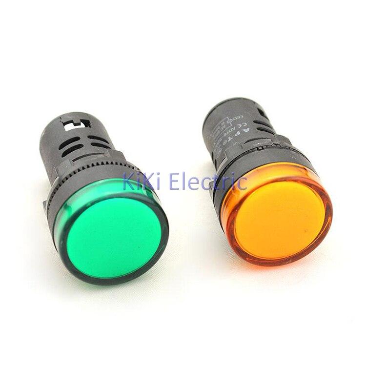 Vert haute lampe à LED lumineuse 12 v 24 v 220 v 380 v Signal lampe électrique armoire utilisation pilote lampe 10 pcs/Lot indicateur lumineux
