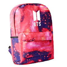 Fashion Kpop ARMY BTS Printing Canvas Bag Student School Bag For Teenager Boys Girls Unisex Travel Bags School Backpack Bagpacks(China)