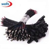 5/10 stücke 5,5x2,1 Stecker DC männlichen oder Weiblichen Kabel Draht Anschluss Für 3528 5050 LED Streifen Licht