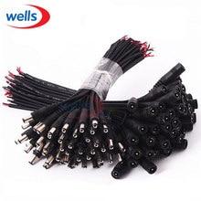 Conector de fio de cabo 5.5x2.1, conector macho ou fêmea dc para 3528 5050 led strip luz clara