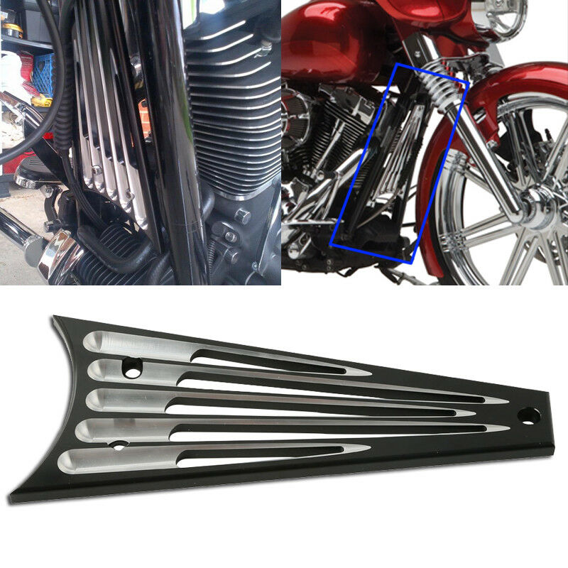 Motorcycle Black Chrome CNC Cut Frame Grill For Harley Electra Street Glide Road King 09 13 2010 11 in Covers Ornamental Mouldings from Automobiles Motorcycles