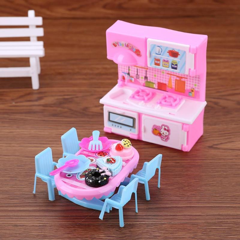 1 Set Plastic Mini Keuken Speelgoed Eettafel Speelgoed Kid Spelen Huis Pop Kit Kid Spelen Huis Pop Kit Eetkamer Tafel Speelgoed