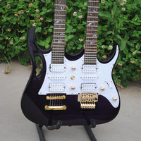 double neck and double body electric guitar