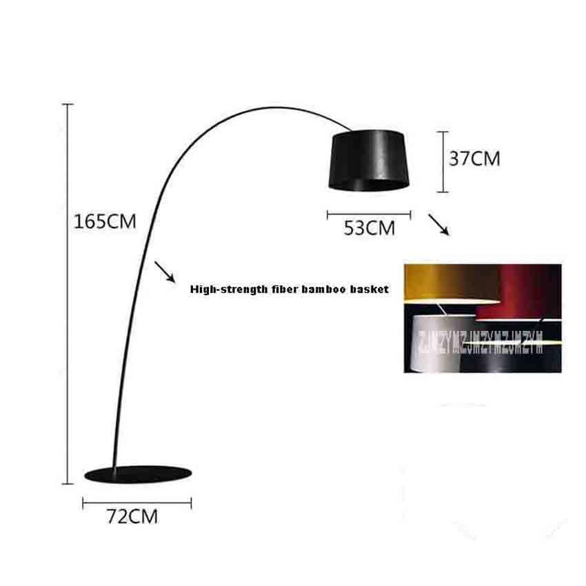 SG-L004 Nordic Modern Fashion Floor Lamp Creative Personality Study Living Room Bedroom Fishing Floor Lamp 110V/220V 15~20m2