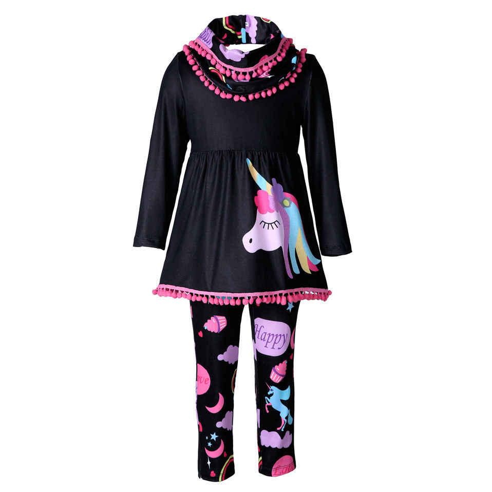 ea9e23e2d Detail Feedback Questions about 2pcs set Girls Unicorn Clothes Sets ...