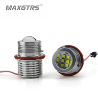 Professional 2 X 60W CREE LED Angel Eye Halo Ring Marker Light Bulb For BMW E39
