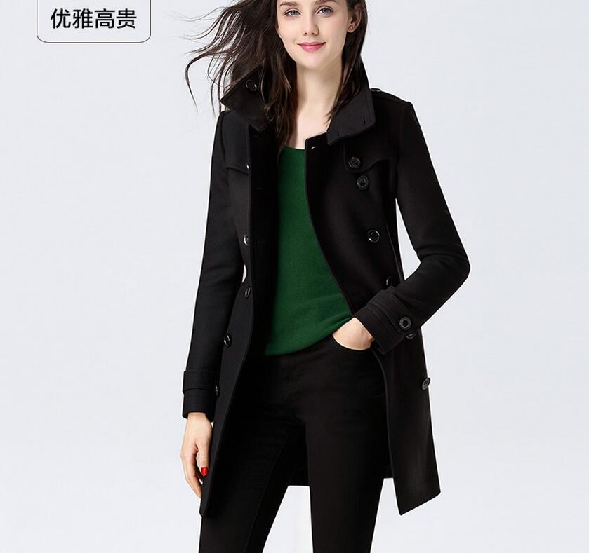 S Chaude 2018 Chantiers Grands Printemps Tissu De Laine Noir Nouvelle Femmes 6xl Manteau Mode Lâche 5rZwEq5U