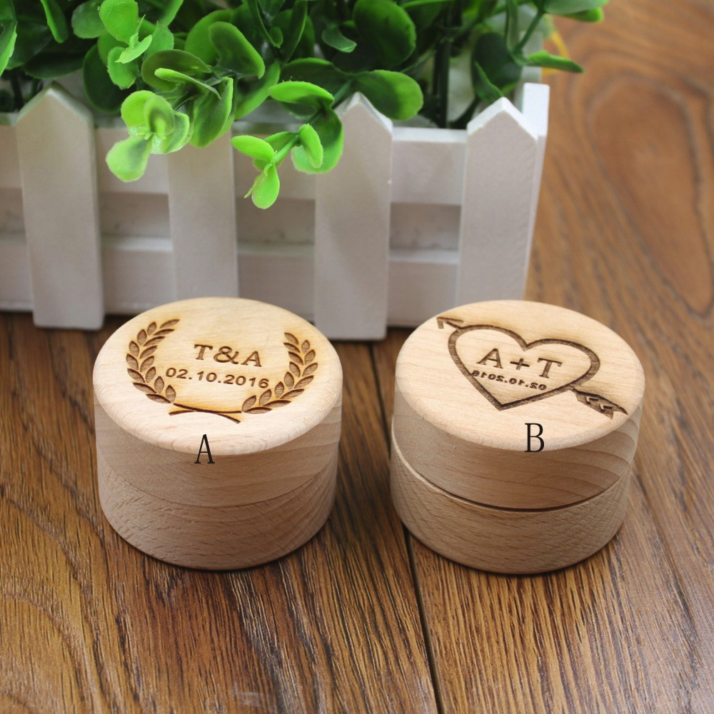 Custom Ring Box Personalized Wedding Valentines Engagement Wooden Ring Bearer Box Rustic Wedding Ring Box Holder2