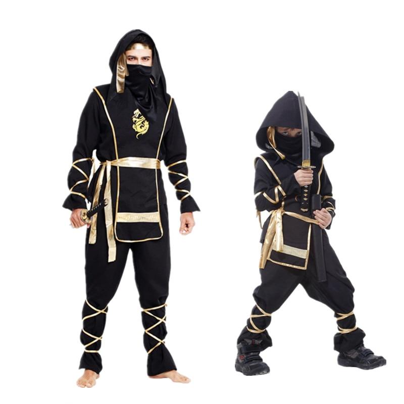 New Kid Ninja Costumes Halloween Party Boys Girls Warrior Stealth Children Cosplay Assassin Costume Children's Day Gifts
