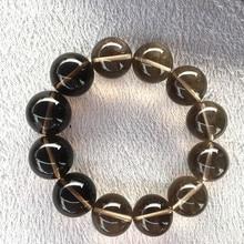15mm Natural Smoke crystal healing stones Round Beads bracele reiki healing beautiful crystals gemstone as gift dreamusic reiki brightness healing