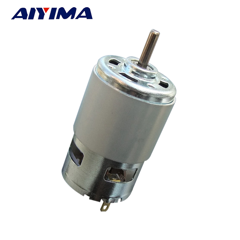 Aiyima 775 Motor 12V 24V 60W DC Double Ball Bearing Motor High Speed High Torque for Hair Dryer Power Tools Factory Direct Sale