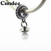 Fopspeen Kralen Past pandora Charms Armband Clear CZ Kralen 925 Sterling Zilveren Sieraden Benodigdheden Voor Sieraden Groothandel