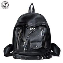 Для женщин модная одежда для девочек черный школьный из мягкой искусственной кожи розовый Рюкзаки дамы путешествовать сумка компактным Сумки для подростка Обувь для девочек
