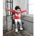 Ems / DHL envío gratis 2015new! invierno encantadoras muchachas de los muchachos suéter de manga larga de cachemir engrosado Cartoon Fox 2 unidades traje