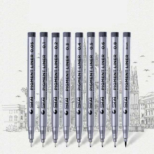 Waterproof Black Pigment Liner Pigma Micron Fineliner Sketching Comics Manga Art Marker Pen For Drawing School Office Stationery 3
