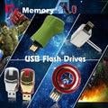 The Avengers Captain America usb flash drive iron man pen drive usb stick Hulk Thor pendrive 4G 8G 16G 32G U disco lindo populares
