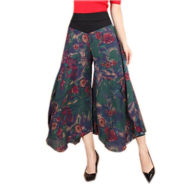 f45ddf67a8bb6 2018 Vintage Female Pantaloon Summer Wide Leg Pant Chinese Stye Women s  Cotton Elastic Waist Loose Trousers L XL Harem Pants