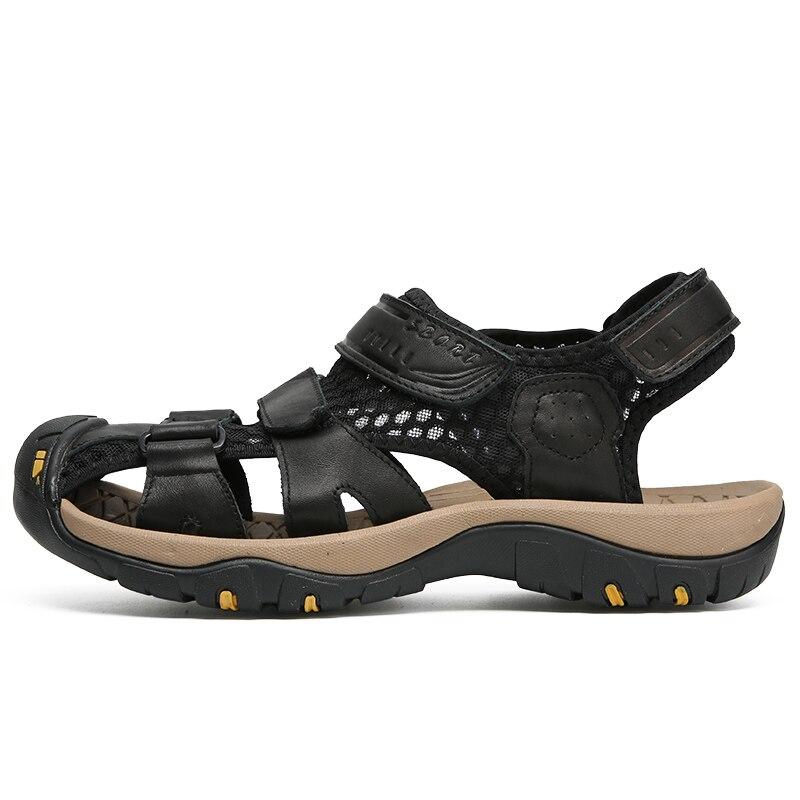 Respirável Sandálias De Toe Sapatos Color deslizamento Não Hombre Color Picture Moda Couro picture Sneakers Sandalias Homens Da Cobre Sandale Verão Genuíno Praia Plataforma vFSCwEq
