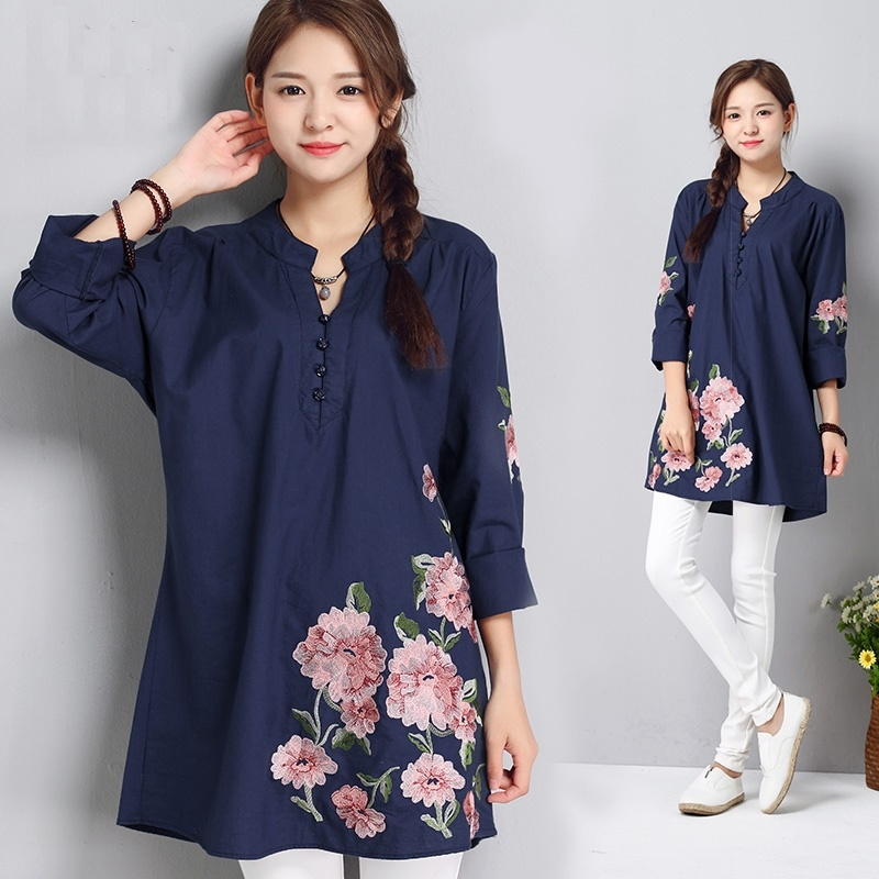 Women Tops Summer 2019 Oriental Blouse Spring Chinese Style Shirt Peasant Womens Tops And Blouses Japanese Streetwear Kk2575 X Sale Price Women's Clothing