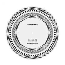 Profesional LP Vinyl Record Turntables Phono Tachometer Calibration Stroboscope Disc 100% brand new and high quality