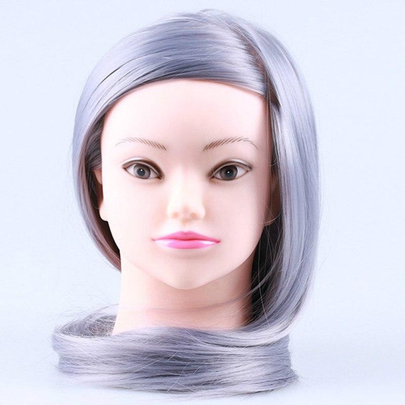 Mannequin de Salon têtes de coiffure Maniqui pratique la coiffure têtes de poupée Maniquies cheveux coupe modèle de coiffure pour coiffeur - 4