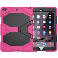 retina ipad For Apple iPad Mini 1/2/3 7.9 inch Retina Kids Baby Safe Armor Shockproof Heavy Duty Silicone Hard Case Cover Screen Protector (2)