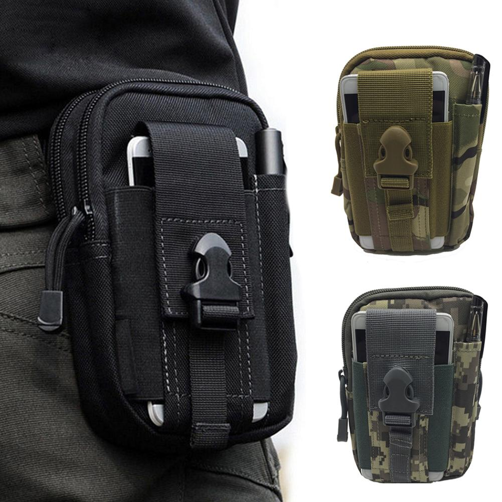 Men's Outdoor Sports Tactical Waterproof Phone Belt Waist Bag Mini Hook Fanny Pack