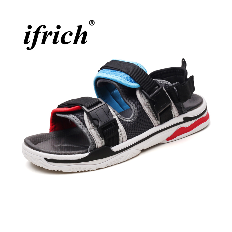 Top Men Fashion Sandals 2018 Summer Men Footwear Breathable Beach Shoes for Male Green Yellow Rubber Bottom Outdoor Sandals