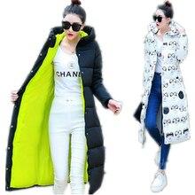 2017 Down Coat Parkas Women's Winter Jackets Winter Long Jacket Women High Quality Warm Female Thickening Warm Parka Hood CM298