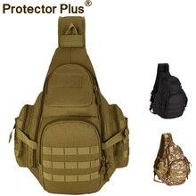 14 pulgadas Portátil de Gran Capacidad Mochila Táctica Deportes Hombro Sling Bag Pecho Molle Militar Mochila de Excursión Que Acampa