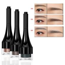 Professional 3 Colors Eyebrow Enhancer Air Cushion Henna Eyebrow Cream Tint Makeup Natural Waterproof Eye Brow Gel With Brush focallure professional eyebrow gel 5 colors waterproof eye brow enhancer cream makeup with brush