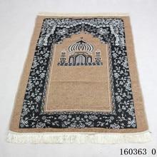 旅行イスラム教徒祈りカーペット 115 × 75 センチメートル崇拝マットモスク抗スリップカーペットの敷物の装飾長方形毛布エリアラグ