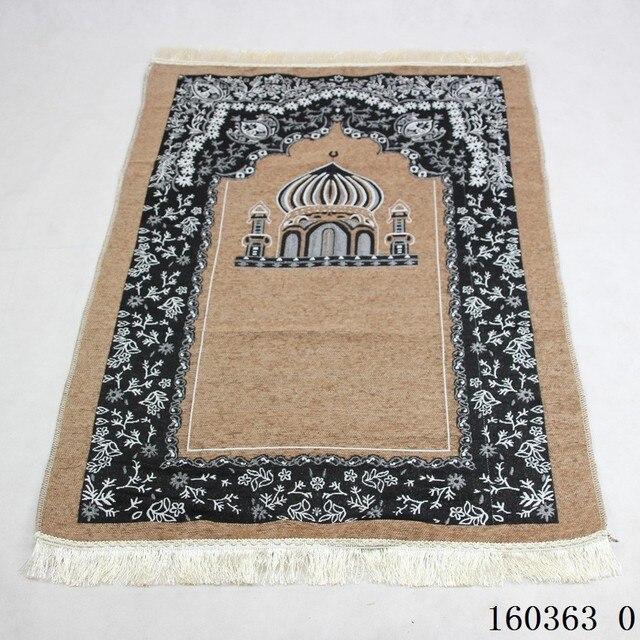 Viaggio Musulmano Tappeto di Preghiera 115x75cm Culto Zerbino Moschea di Anti slip Tappeto Tappeti per Complementi Arredo Casa Rettangolo Coperta area Tappeti