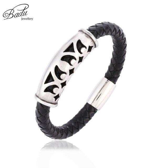 Badu Black Leather Bangle...