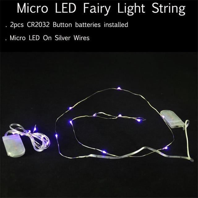 Battery powered micro led string light 10 leds4ft 1m ultra thin battery powered micro led string light 10 leds4ft 1m ultra thin silver mozeypictures Gallery