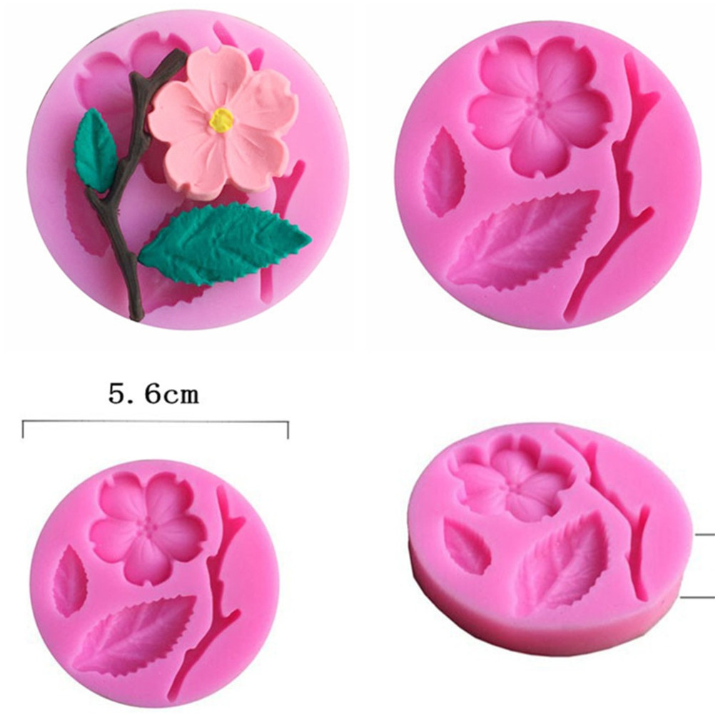 Peach Blossom Leaf Shaped Silicone Mold  DIY Resin Jewelry Pendant Necklace Pendant Lanugo Mold Resin Molds For Jewelry