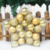 40PCS/Set Balls 2017 Christmas Tree Ornaments Christmas Balls Christmas Decorations For Home Christmas Gifts Ball D5cm
