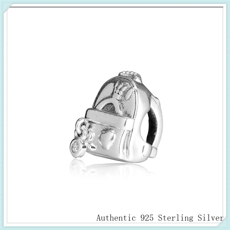 Adventure Bag Beads Fit Pandora Charms Bracelets 100% 925 Sterling Silver Charm for Jewelry Making Free Shipping CKK PF910Adventure Bag Beads Fit Pandora Charms Bracelets 100% 925 Sterling Silver Charm for Jewelry Making Free Shipping CKK PF910