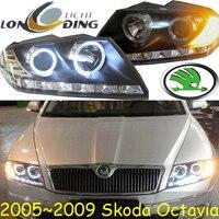 Octavia Headlight 2005 2008 Fit For LHD RHD Free Ship Octavia Fog Light 2ps Se 2pcs