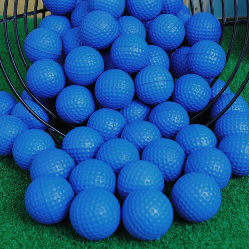 1pcs  Blue PU Foam Golf Ball Sponge Pet Balls Indoor Practice Training